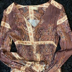 Altar'd State v-neck maxi dress